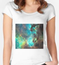 Green Galaxy Women's Fitted Scoop T-Shirt