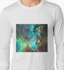 Green Galaxy Long Sleeve T-Shirt