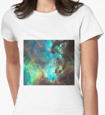 Green Galaxy Women's Fitted T-Shirt