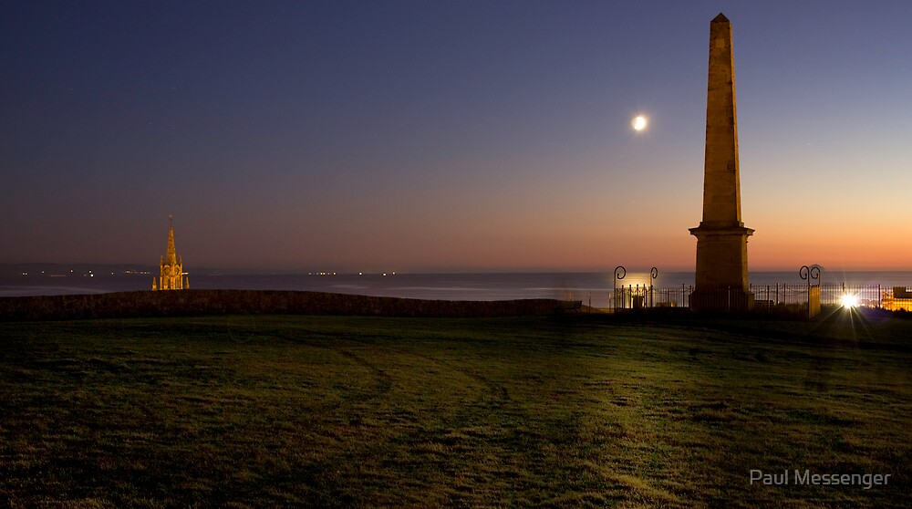 Ardrossan moon rise by Paul Messenger
