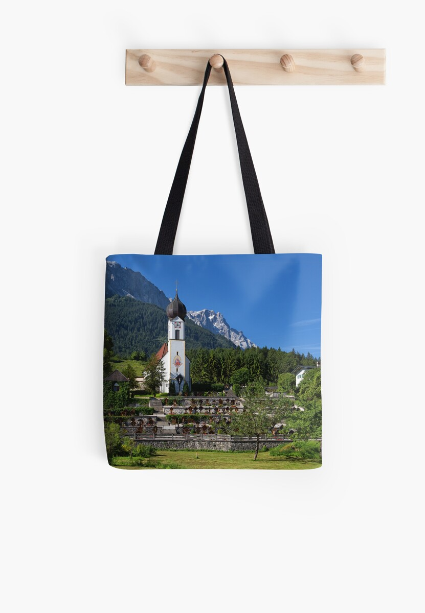 Catholic Parish Church of Grainau and Mount Zugspitze by Yair Karelic