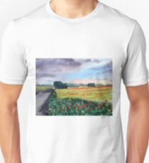 Poppies on Forty Acres Farm near Easingwold T-Shirt