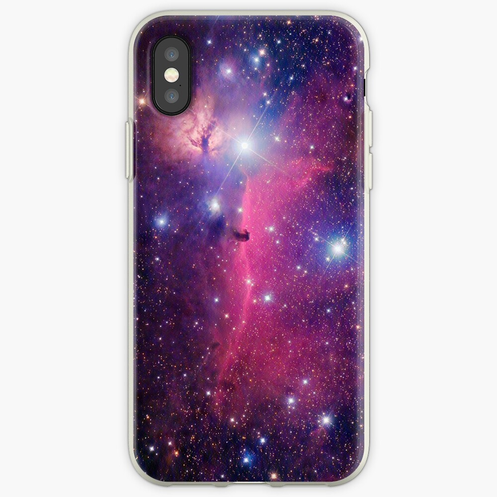 Lila Galaxie iPhone-Hülle & Cover