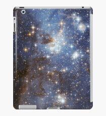 Blaue Galaxie iPad-Hülle & Klebefolie