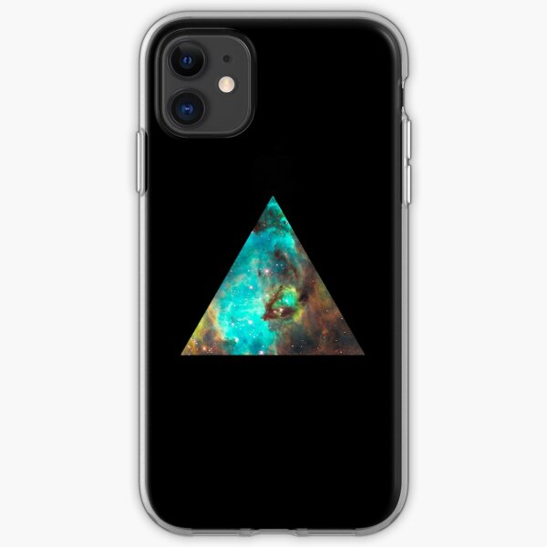 Green Galaxy Triangle iPhone Soft Case