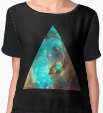 Green Galaxy Triangle Chiffon Top
