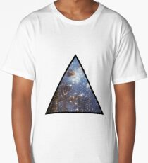 Blue Galaxy Triangle Long T-Shirt