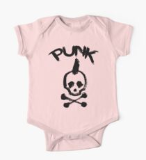 Punk Kurzärmeliger Einteiler