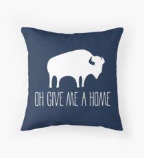 Home On The Range American Folklore Folk Art Throw Pillow