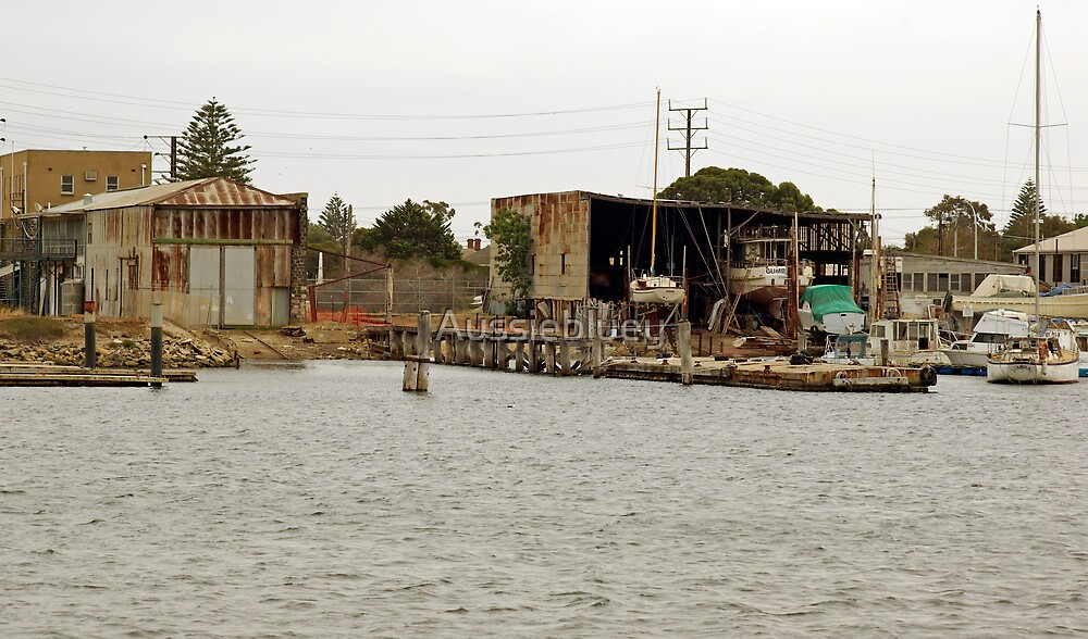 Old Boat Sheds. by Aussiebluey