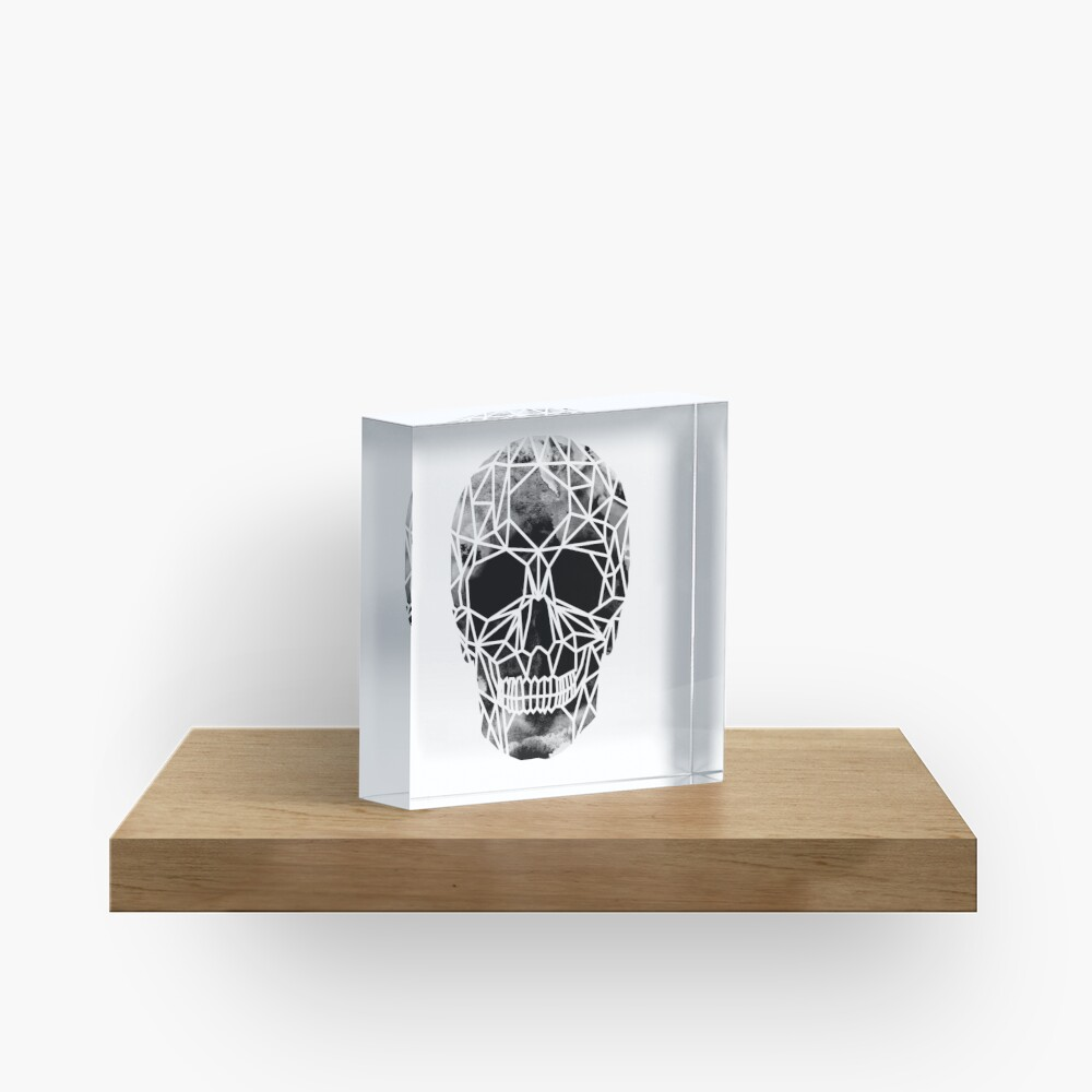 Crystal Skull Infrared Acrylic Block