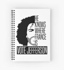 Vote For Jefferson Spiral Notebook