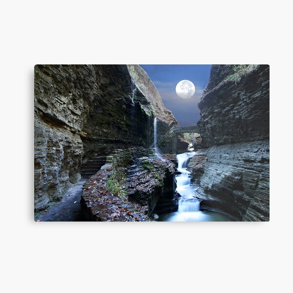 Rainbow Waterfalls Metal Print