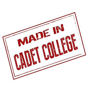 Made in Cadet College Stamp by tareqnh