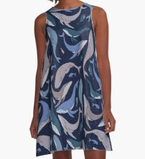 School of whales A-Line Dress