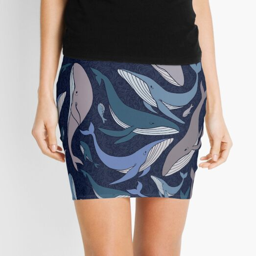 School of whales Mini Skirt