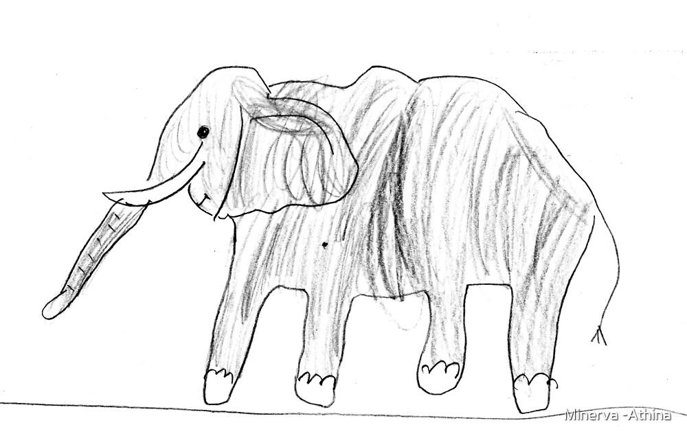 The Mama Elephant by Minerva -Athina