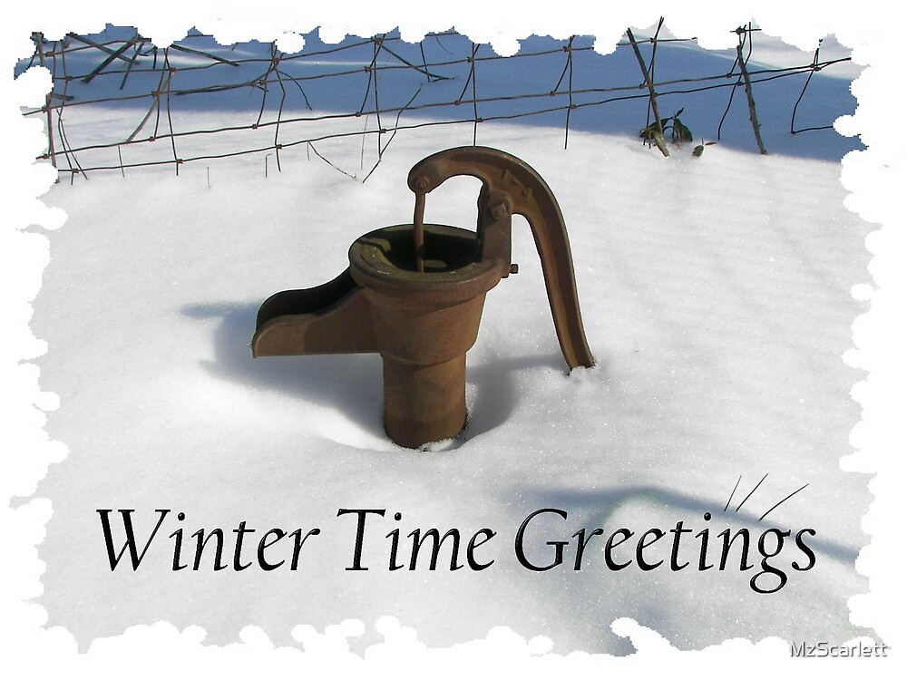 Winter Time Greetings by MzScarlett