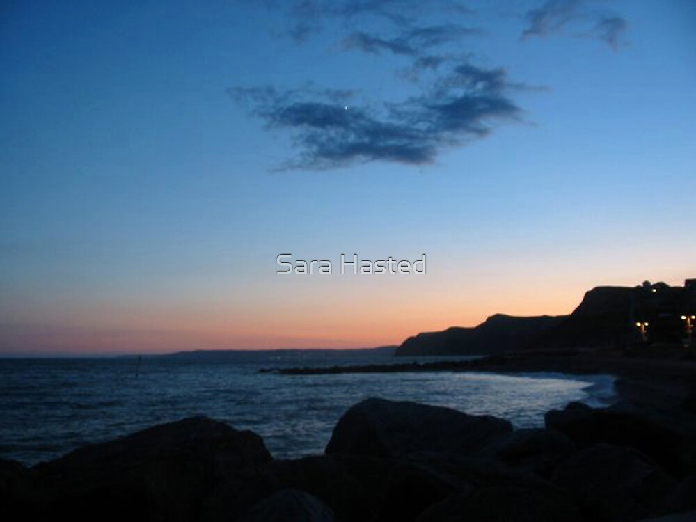 West Bay Sunset by Sara Hasted