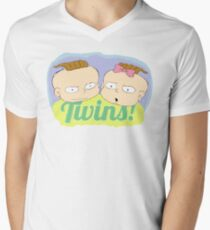 Twins Phil and Lil Men's V-Neck T-Shirt