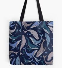 School of whales Tote Bag
