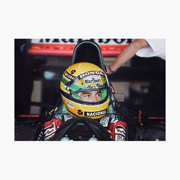 Ayrton Senna at the 1991 US Grand Prix Photographic Print
