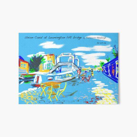 The Union Canal, Edinburgh with the Leamington Lift Bridge Art Board Print