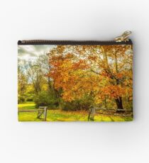 Autumn fence Studio Pouch