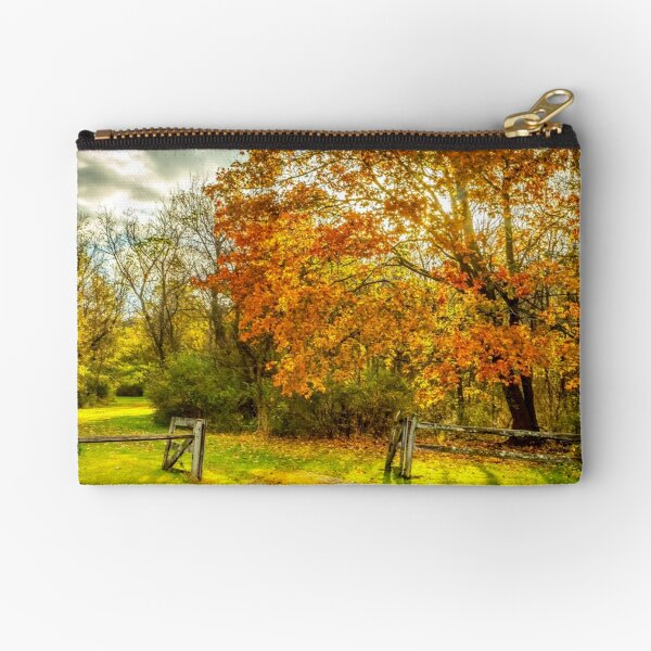 Autumn fence Zipper Pouch