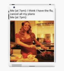 Mariah flu  iPad Case/Skin