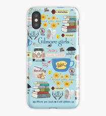 Gilmore Girls Collage, light blue iPhone Case/Skin