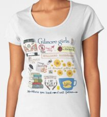 Gilmore Girls Collage, lavender Women's Premium T-Shirt