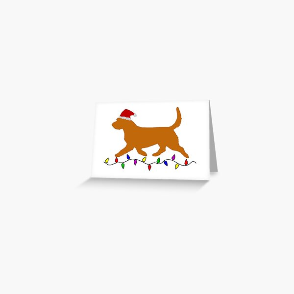 Basset Fauve de Bretagne Christmas Card Greeting Card