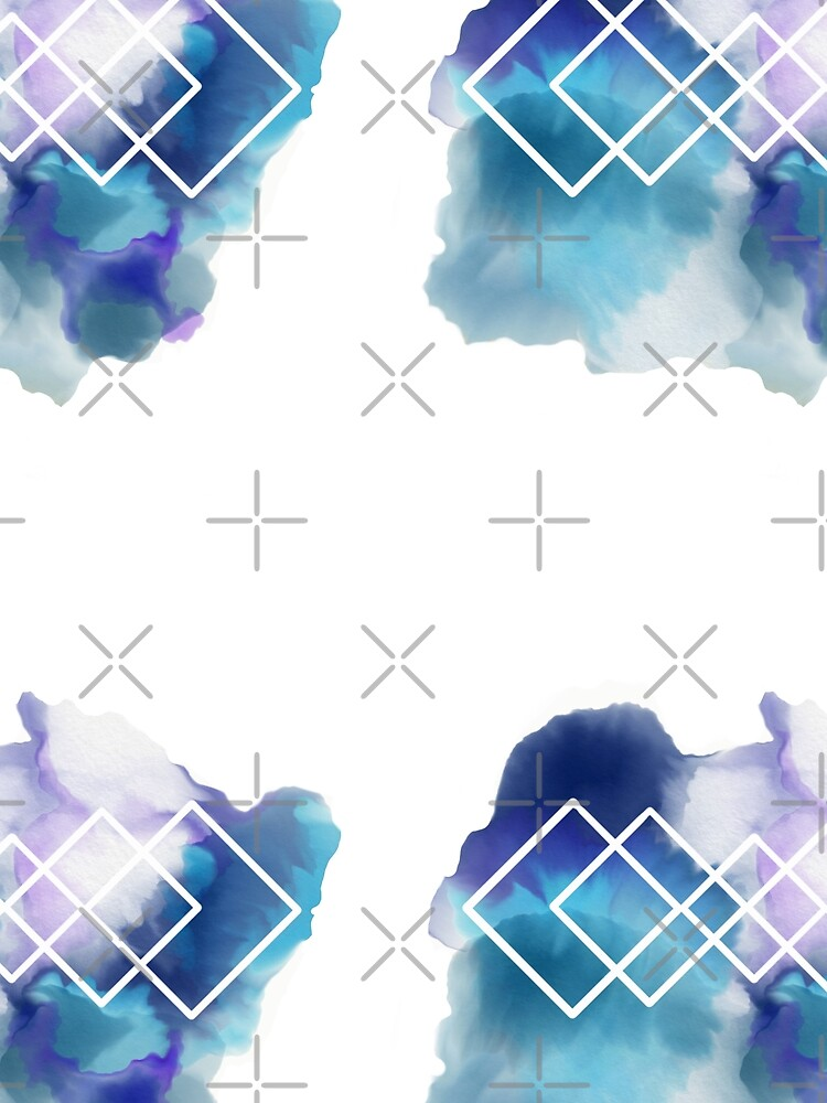 Geometric Watercolor  by CaitlinLawrence