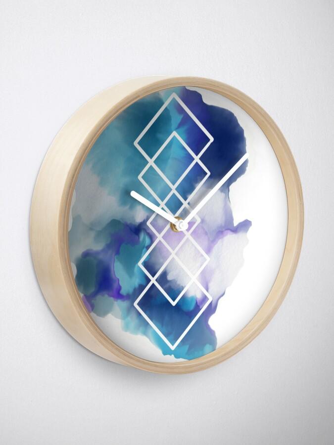 Alternate view of Geometric Watercolor  Clock