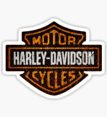 Vintage American Motorcycle old and cracked paint Sticker