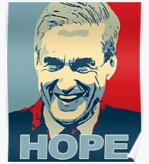 Robert Mueller HOPE in Obama Hope Poster style Anti-Trump Poster