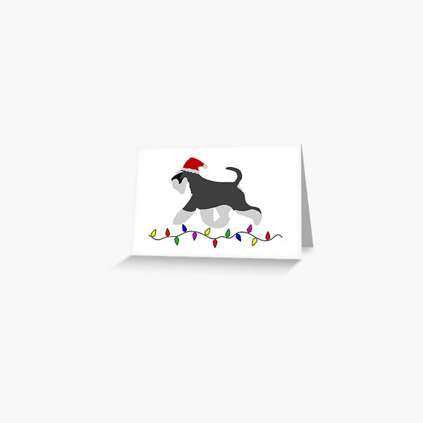 Miniature Schnauzer Christmas Card Greeting Card