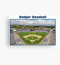 Dodger Baseball Canvas Print