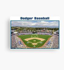 Dodger Baseball Canvas Print