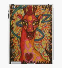 Lächelnde Giraffe iPad-Hülle & Klebefolie