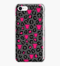 Leopard Pit Bull Print Charcoal iPhone Case/Skin
