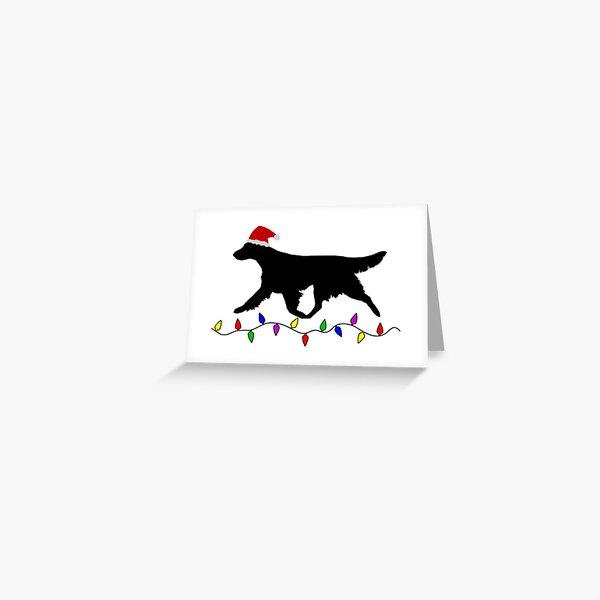 Flatcoated Retriever Christmas Card Greeting Card
