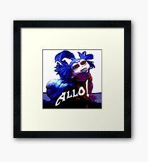 Allo! Framed Print