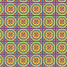 Multicolored Mandala  by aunumwolf42