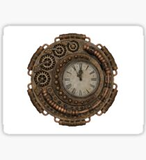 Steampunk Clock Sticker