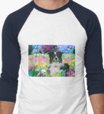 Border-Collie-Hundezusammenfassung Baseballshirt mit 3/4-Arm