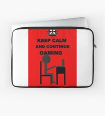 Keep calm and game Laptop Sleeve