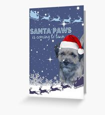 Santa Paws... Greeting Card