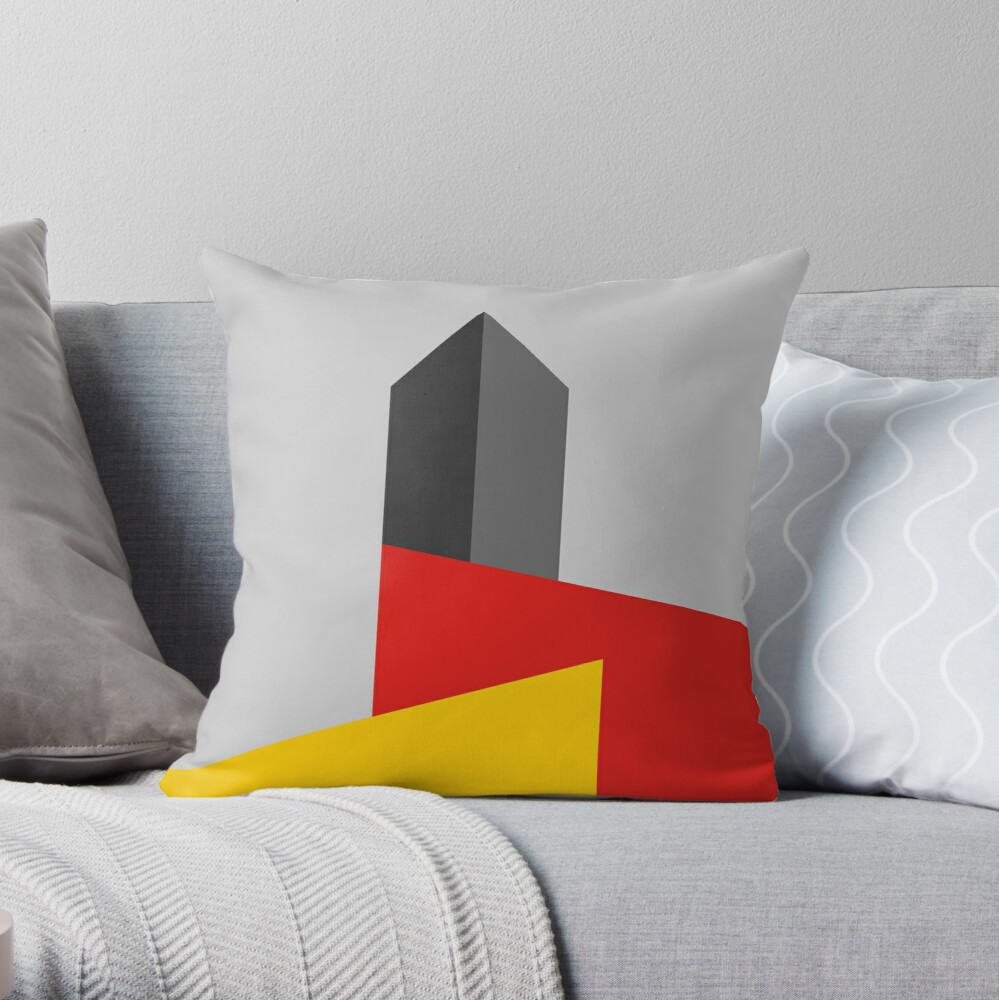 BAUHAUS TOWER Throw Pillow